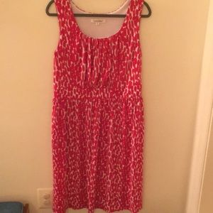 TravelSmith women's sleeveless red and white dress